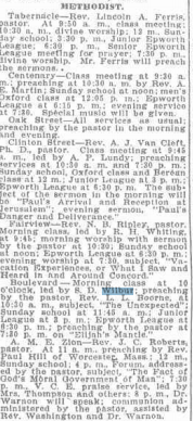 1909 Stephen Wilbur Leading Church Class