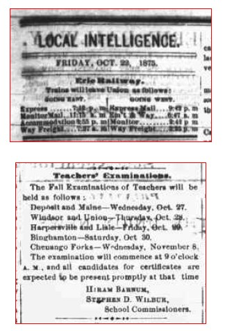 1875 Exams Merged Union News