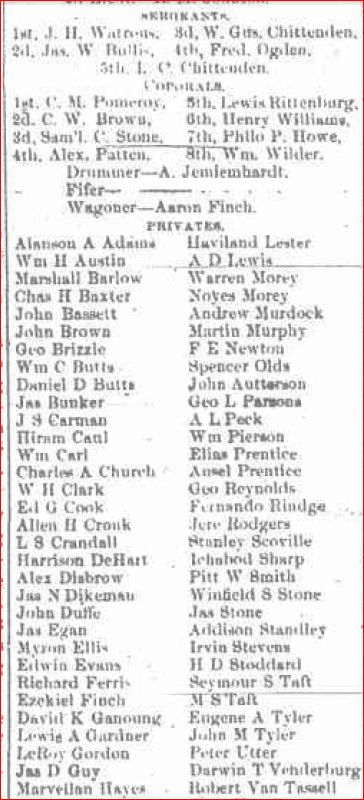List of soldiers 109th Broome Republican September 3 1862 a