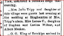 Wedding of Leoria 1900 listed as Leona Date