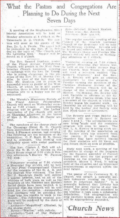 May 1909 Dhurch