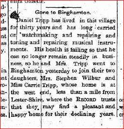 1891 Tripps move from Owego to Binghamton