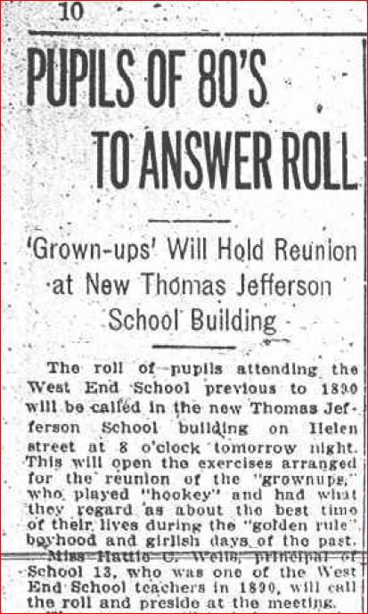 Thomas Jefferson School Reunion 1