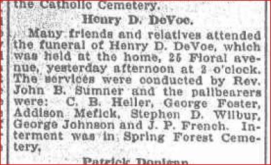 Daniel DeVoe funeral