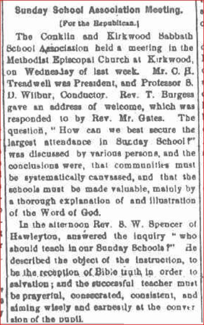 1875 Sunday School Meeting as Conductor