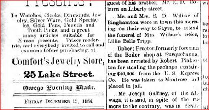 Funeral of Lille Belle Tripp