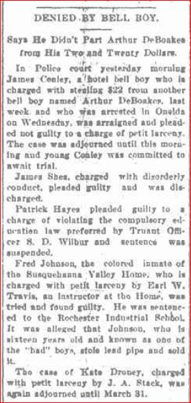 Truant Officer Trial 1902