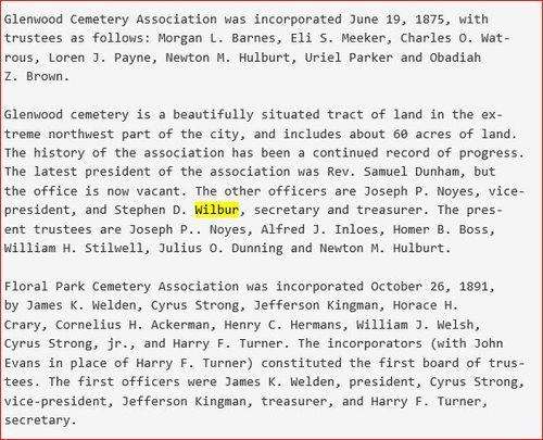 Binghamton its settlement, growth and development Glenwood Cemetery