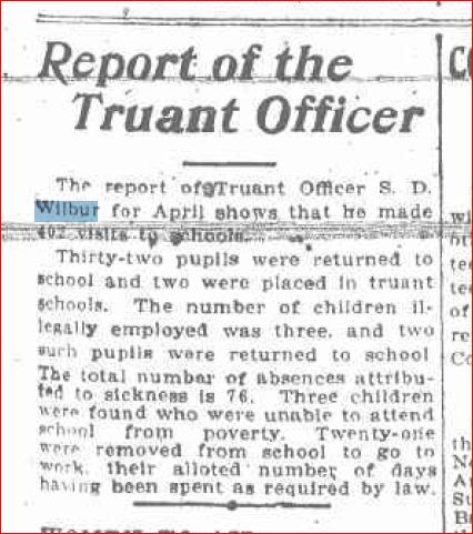 Report of the Truant Officer