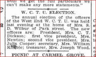 WCTU Election