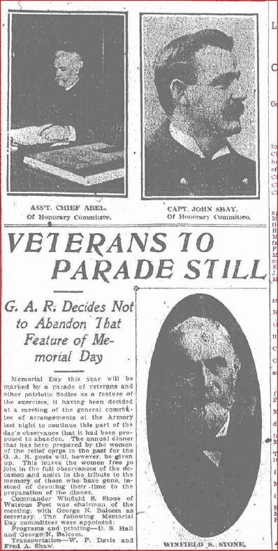 Veterans to Parade Still a