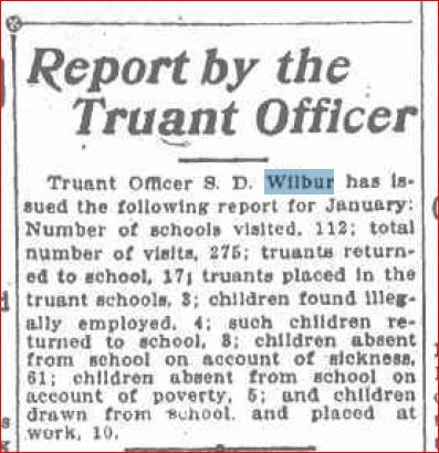 Report by Truant Officer