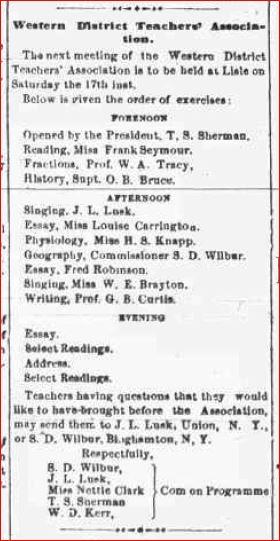 February 2 1877 Teachers Association header
