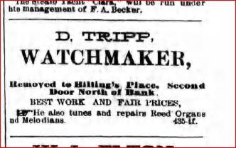 Daniel Tripp 1885 Ad
