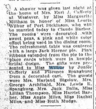 August 8 1923 Wedding Shower for Grandma