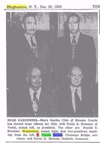 Claude Garden Club 1953