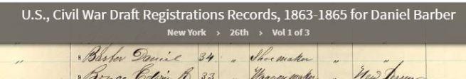1863 Daniel Barber Draft
