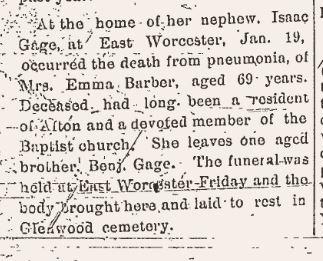 Death of Emma Barber