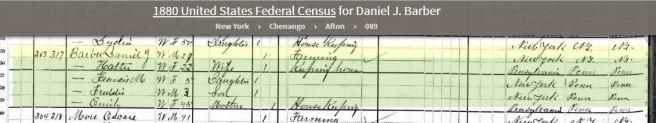 Emily 1880 Census