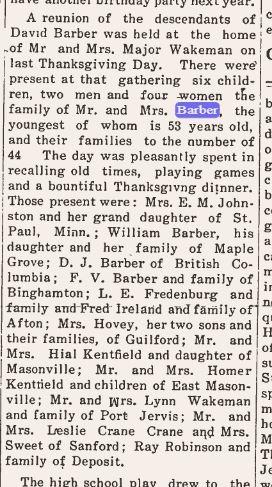 Thursday , December 7th, 1911 Daniel Called David